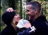 Ryan Reynolds shares first snap of third child with Blake Lively and seemingly reveals baby's gender