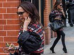 Victoria Beckham swaps her signature wide-legged trousers forspray-on jeans