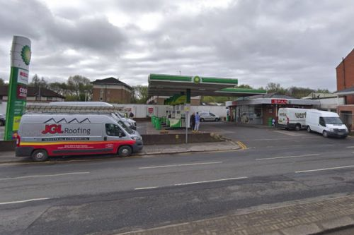 Glasgow petrol station on lockdown as cops tape off forecourt