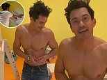 Orlando Bloom shows off his chiseled body while painting his one-year-old daughter Daisy's room