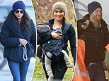 Back in their beanies! Meghan and Harry don favourite cozy hats as their new life begins