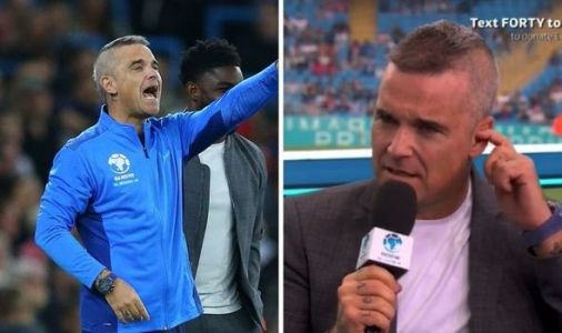 Robbie Williams sends Soccer Aid viewers into frenzy over 'unrecognisable' appearance