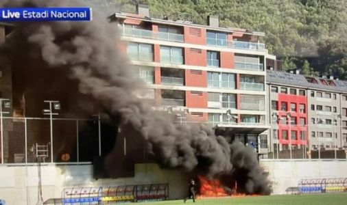 Fire erupts at Andorra stadium leaving England's World Cup qualifier in doubt