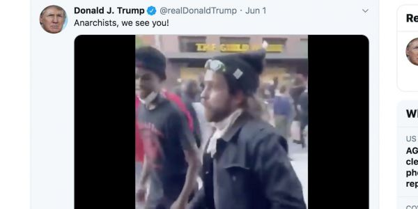 Police in Columbus identify a 'person of interest' that Donald Trump called an 'anarchist' on Twitter