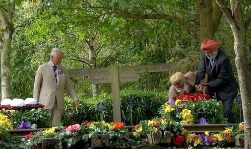 Prince Charles rushes to help WW2 veteran as he stumbles laying a wreath at VJ Day service