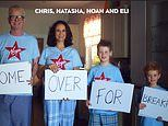 Chris Evans launches new Virgin Breakfast show with Love Actually and Uncle Buck-inspired sketches with sons Noah, 9, and Eli, 6
