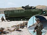 Amphibious craft take beach and soldiers drink cobra blood in annual US-Thai 'Cobra Gold' exercise