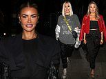 TOWIEs Chloe Sims looks stylish as she's joined by sisters Frankie and Demi Sims in London to film