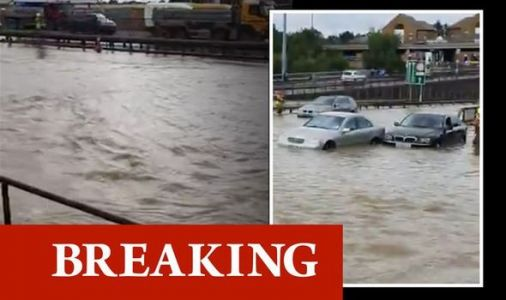 London flood: North Circular closed as motorists trapped in submerged cars