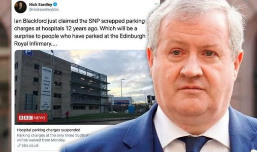 SNP's Ian Blackford corrected after claiming NHS parking FREE in Scotland