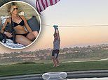 ChristinaAnstead shares video of her four-year-old son briefly 'stuck' on their backyard zipline