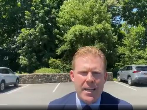Andrew Giuliani took a note from his dad's playbook and gave a prepared statement from a parking lot to defend Rudy