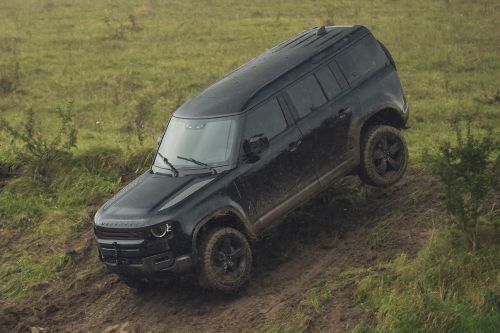 New Land Rover Defender on the set of new 007 film 'No Time to Die'