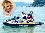 Sonia Kruger goes jet-skiing with her family