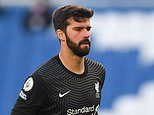 Liverpool manager Jurgen Klopp expects Alisson to miss two weeks with hamstring injury