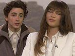 Zendaya and Timothée Chalamet discuss filming Dune in desert on The Late Show with Stephen Colbert