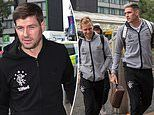 Steven Gerrard leads Rangers troops on the way to Spain for Europa League clash with Villarreal