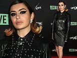 Charli XCX sports unflattering leather look for her performance at LiveXLive post Grammy Party