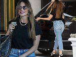 Sofia Vergara oozes casual-cool in jeans and platform heels for shopping spree in Beverly Hills