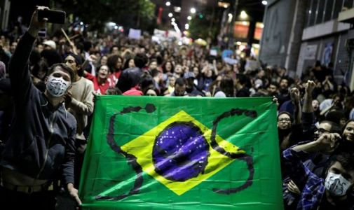 Amazon wildfires: Brazil's president sends in army as thousands protest