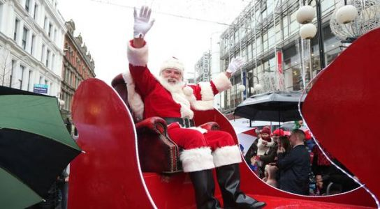 Santa Claus to arrive in Belfast this Saturday for Christmas parade