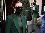 Gigi Hadid makes the streets of Paris green with envy as she heads out for Paris Fashion Week