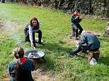 Kate Middleton visits a London Scouts Group for outdoor activities