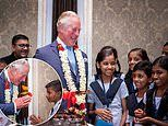 Prince Charles celebrates his 71st birthday in India with group of schoolchildren