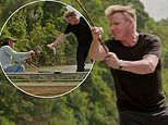 Gordon Ramsay wrangles with a live piranha in Uncharted first look