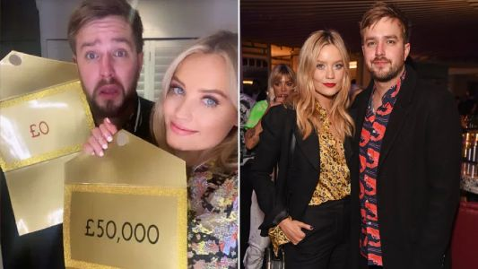 Love Island's Laura Whitmore jokingly ditches Iain Stirling for £50,000 prize fund at wrap party