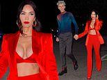 Megan Fox EXCLUSIVE: Actress flashes her incredible abs on romantic night out with Machine Gun Kelly