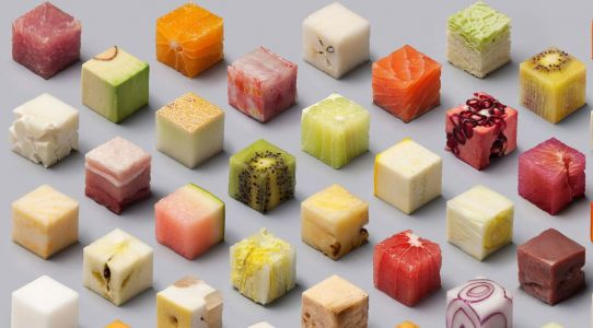 Artists Create 98 Beautifully Satisfying Food Cubes