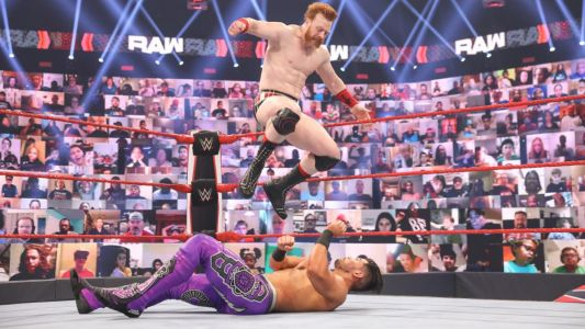 WWE's Humberto Carrillo 'suffers injury' as fans are left concerned after nasty landing on Raw