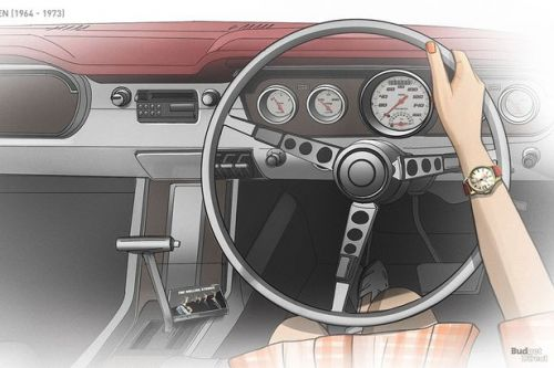 Amazing gifs show how dashboards of 7 classic cars have changed through the years
