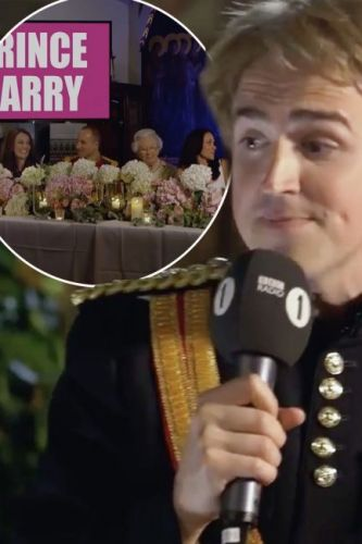 Tom Fletcher nails hilarious royal wedding speech dressed as Prince Harry singing to Meghan Markle lookalike