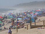 Montauk Beach is PACKED with visitors as the New York City exodus continues