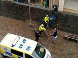 Police officer in Perth in Scotland shouts at man claiming to have coronavirus
