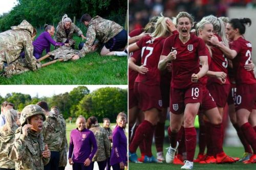 England's Lionesses prepared for World Cup by training with the Royal Marines