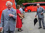 Prince of Wales, 71, looks upbeat as he visits a holiday business in the country