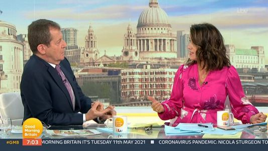 'We get attacked over lies that were not told 18 years on': Alastair Campbell and Susanna Reid clash in debate over Tony Blair