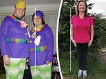 Couple who lost 15 STONE between them after being mortified by snap of them dressed as Tweedledum