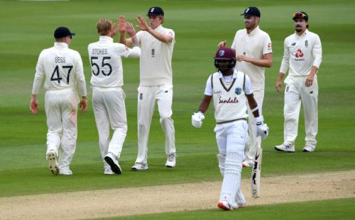 Ben Stokes strikes but West Indies close in on England's total