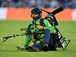 Police hold Greenpeace activist after Euro 2020 parachute stunt goes awry