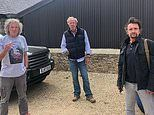Jeremy Clarkson shares a socially distanced snap with James May and Richard Hammond