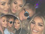TOWIE's Chloe, Demi and Frankie Sims strike up a friendship with Paris Hilton as they live it up