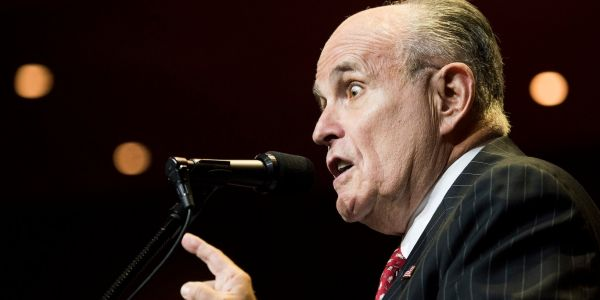 Rudy Giuliani commemorates the 9/11 anniversary by sharing a clip of police bracing for a riot