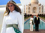 India goes wild for Melania as first lady takes equal billing with Donald Trump