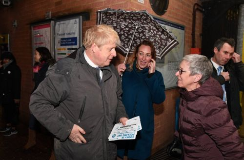 Boris Johnson arrives in Uxbridge ready for General Election count