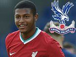 Crystal Palace launch £25m bid for Liverpool striker Rhian Brewster including £37m buy back clause