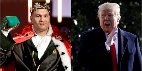Trump says he might invite boxer Tyson Fury - who has a long history of homophobic, racist, and anti-Semitic comments - to the White House following his recent win